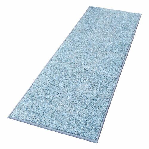 HANSE Home Läufer »Pure 100«, , rechteckig, Höhe 13 mm, Velours Haptik, blau