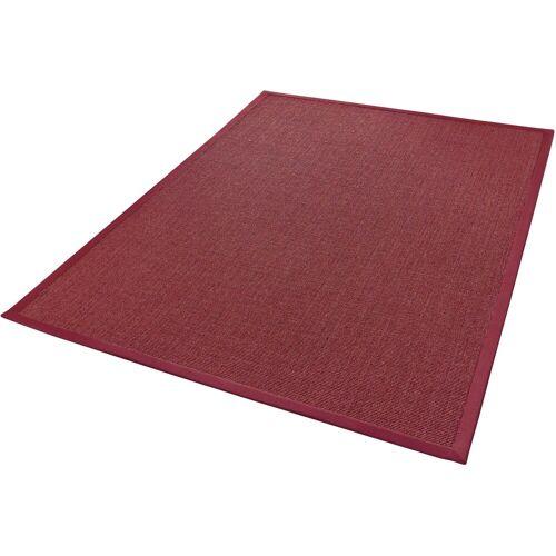 Dekowe Sisalteppich »Mara S2«, , rechteckig, Höhe 5 mm, Obermaterial: 100% Sisal, Wunschmaß, rot-meliert
