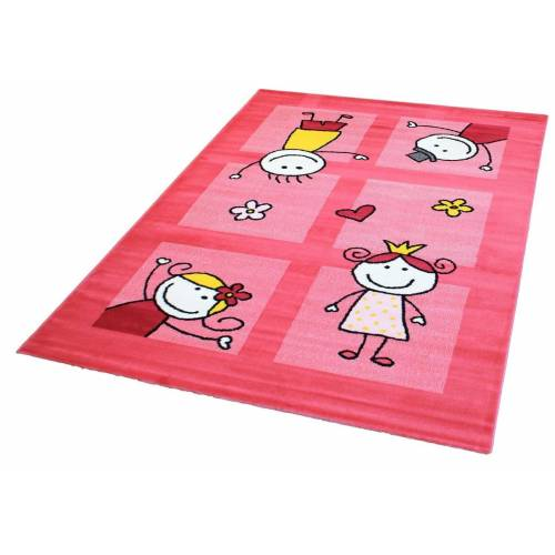 Sanat Kinderteppich »Bambino 2107«, , rechteckig, Höhe 11 mm, Kurzflor, pink