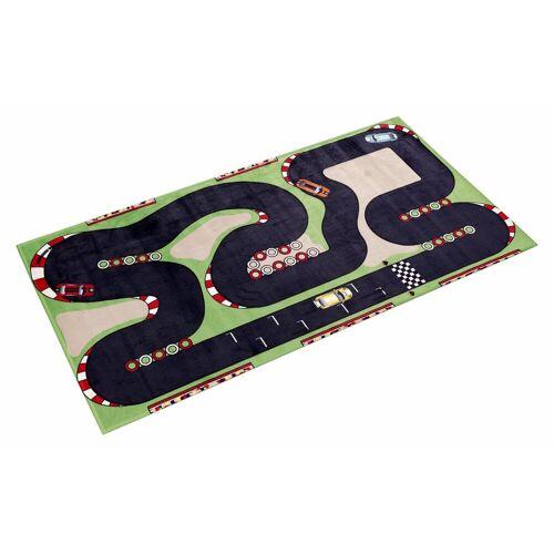 Böing Carpet Kinderteppich »Lovely Kids 407«, , rechteckig, Höhe 6 mm, Straßen-Spielteppich, Motiv Rennstrecke
