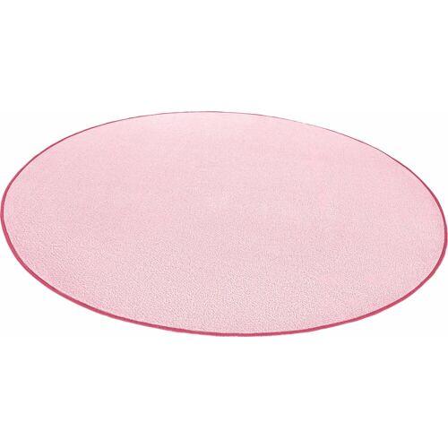 HANSE Home Teppich »Fancy«, , rund, Höhe 7 mm, Kurzflor, gekettelt, Wohnzimmer, rosa