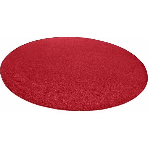 HANSE Home Teppich »Fancy«, , rund, Höhe 7 mm, Kurzflor, gekettelt, Wohnzimmer, rot