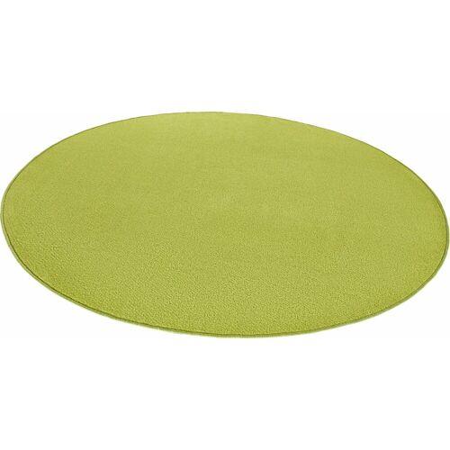 HANSE Home Teppich »Fancy«, , rund, Höhe 7 mm, Kurzflor, gekettelt, Wohnzimmer, grün