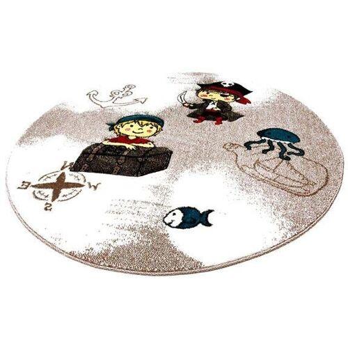 Festival Kinderteppich »Momo Pirat«, , rund, Höhe 13 mm, Seeräuber und Piraten Motiv