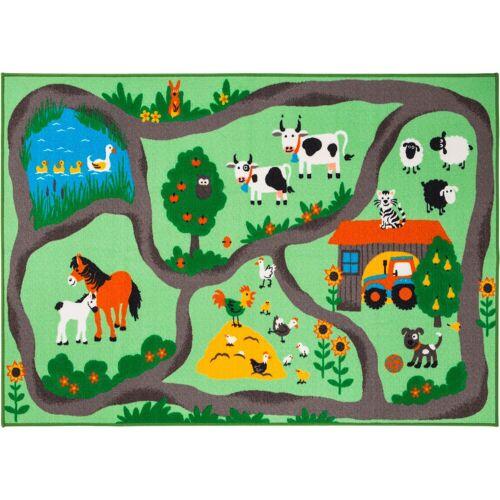 Andiamo Kinderteppich »Bauernhof«, , rechteckig, Höhe 6 mm, Kurzflor, Straßen-Spielteppich