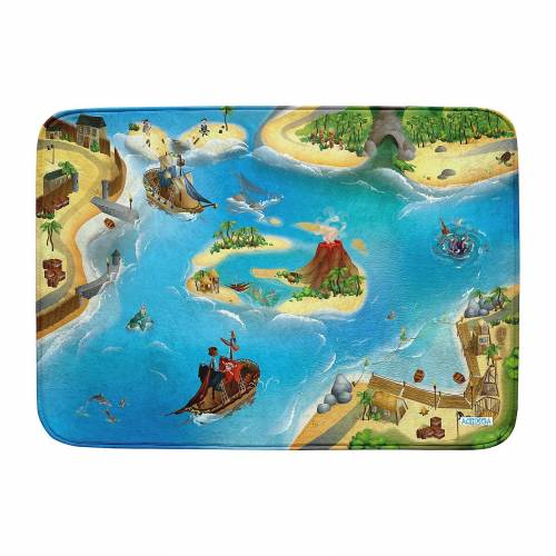 Ultrasoft Spielteppich Piraten, 100 x 150 cm, mehrfarbig