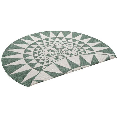 my home Teppich »Bela«, , rund, Höhe 5 mm, In- und Outdoor geeignet, Sisaloptik, grün