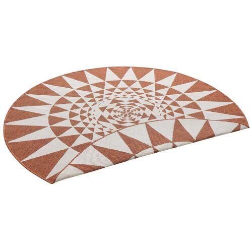 my home Teppich »Bela«, , rund, Höhe 5 mm, In- und Outdoor geeignet, Sisaloptik, terra