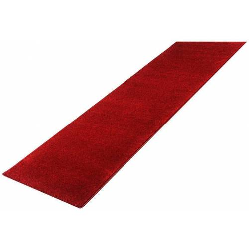 Living Line Läufer »Burbon«, , rechteckig, Höhe 10 mm, Velours, rot