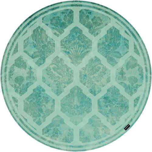 MySpotti Vinylbodenmatte »Cui«, rund, wasserfest und statisch haftend, blau