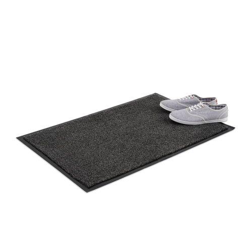 relaxdays Fußmatte »Schmutzfangmatte grau«, , Höhe 7 mm