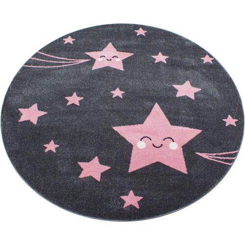 Ayyildiz Kinderteppich »Kids 610«, , rund, Höhe 12 mm, Sterne Motiv, Kurzflor