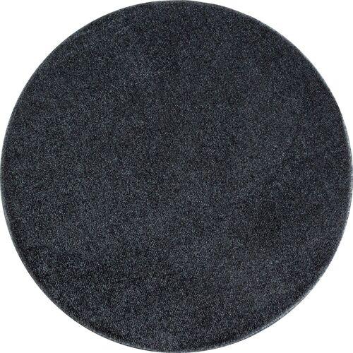Ayyildiz Teppich »ATA«, , rund, Höhe 10 mm, Wohnzimmer, grau