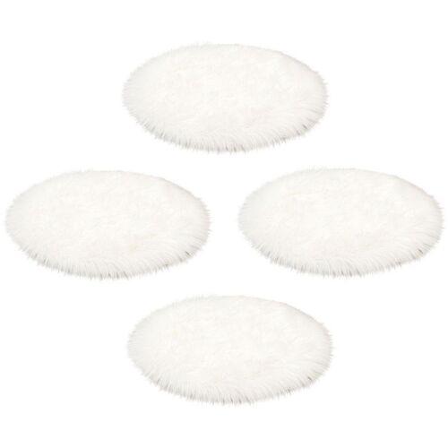 ASTRA Fellteppich »Mia Flokati«, , rund, Höhe 50 mm, Sitzkissen, Auflagenset, Kunstfell, weiß