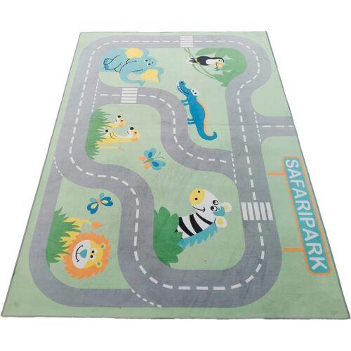 Lüttenhütt Kinderteppich »Safari«, , rechteckig, Höhe 6 mm, Straßen-Spielteppich