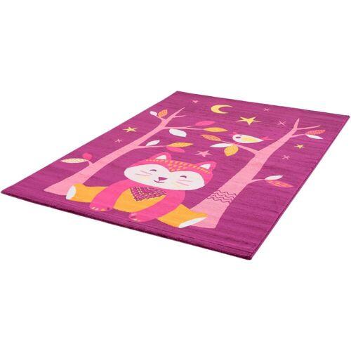 Sanat Kinderteppich »Bambino 2109«, , rechteckig, Höhe 12 mm, bunter Kinder Kurzflorteppich, lila