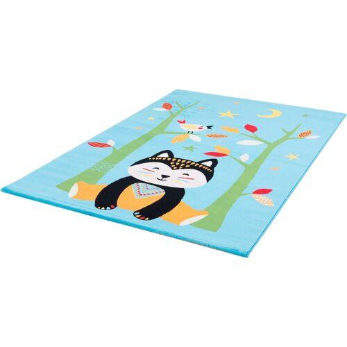 Sanat Kinderteppich »Bambino 2109«, , rechteckig, Höhe 12 mm, bunter Kinder Kurzflorteppich, blau