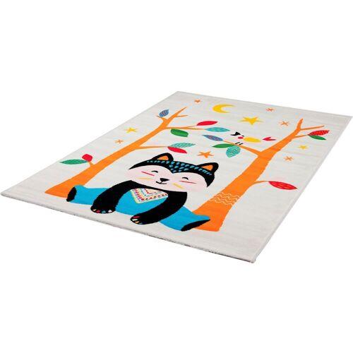 Sanat Kinderteppich »Bambino 2109«, , rechteckig, Höhe 12 mm, bunter Kinder Kurzflorteppich, weiß