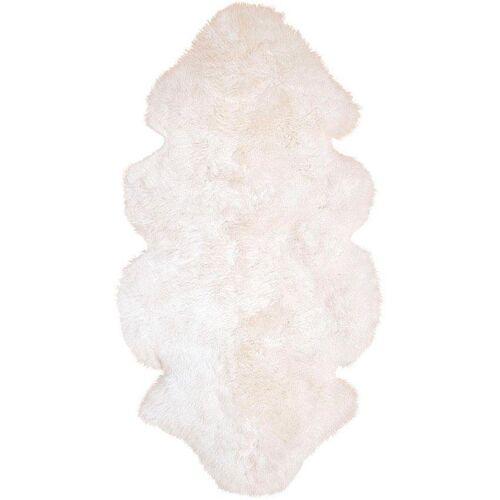 Heitmann Felle Fellteppich »Lammfell 155 weiß«, , fellförmig, Höhe 70 mm, echtes Austral. Lammfell