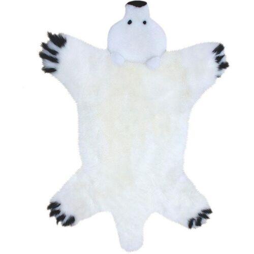 Heitmann Felle Fellteppich »Spielteppich Bär«, , tierfellförmig, Höhe 40 mm, Kinderteppich, echtes Lammfell, weiß