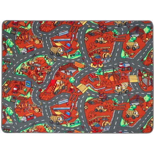 Primaflor-Ideen in Textil Kinderteppich »BAUSTELLE«, , rechteckig, Höhe 5 mm, Straßen-Spielteppich