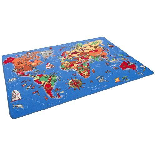 Snapstyle Kinderteppich »Lernen und Spielen Kinderteppich Weltkarte«, , Höhe 4 mm