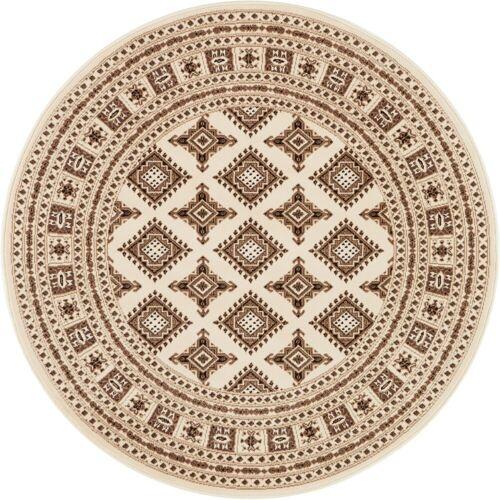 NOURISTAN Teppich »Sao Buchara«, , rund, Höhe 9 mm, Kurzflor, Orient-Optik, beige