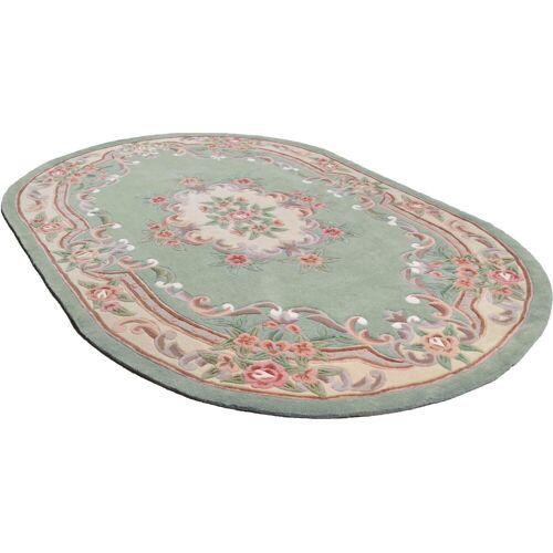 THEKO Teppich »Ming«, , oval, Höhe 14 mm, hochwertiges Acrylgarn, grün