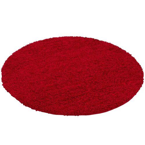Pergamon Hochflor-Teppich »Hochflor Langflor Teppich Aloha Rund«, , Höhe 40 mm, Rot