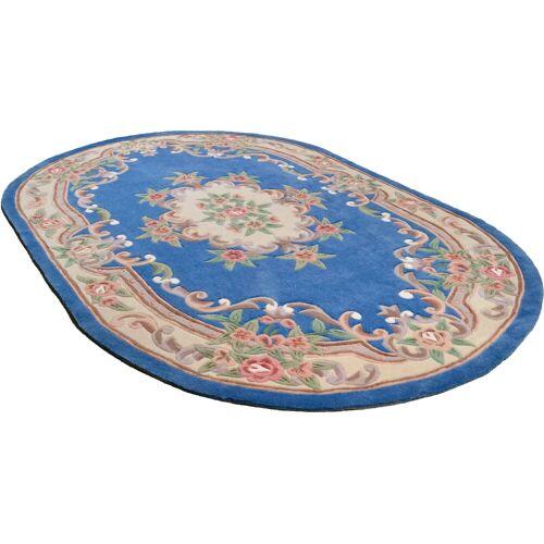 THEKO Teppich »Ming«, , oval, Höhe 14 mm, hochwertiges Acrylgarn, blau