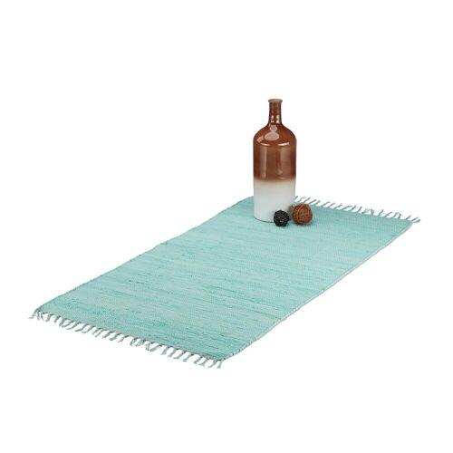relaxdays Teppich »Flickenteppich mit Fransen«, , Höhe 10 mm