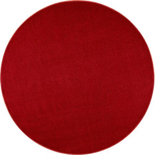 HANSE Home Teppich »Shashi«, , rund, Höhe 8,5 mm, ringsum gekettelt, Wohnzimmer, rot