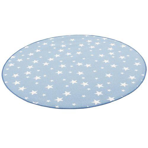 Snapstyle Kinderteppich »Kinder Spiel Teppich Sterne Rund«, , Rund, Höhe 5 mm, Blau