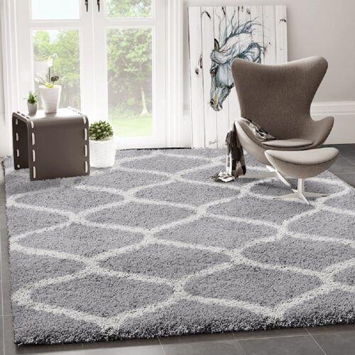 Vimoda Teppich »Ein kuscheliger Hochflor Shaggy Teppich mit Maschen Muster«,