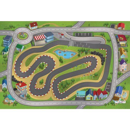 ACHOKA® Kinderteppich »Spielteppich Stadthafen, 80x120 cm«, , grün