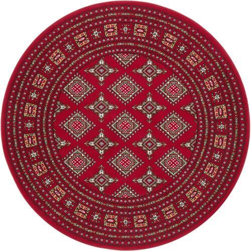 NOURISTAN Teppich »Sao Buchara«, , rund, Höhe 9 mm, Kurzflor, Orient-Optik, rot