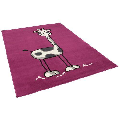 Pergamon Kinderteppich »Kinderteppich Trendline Giraffe Lila«, , Höhe 8 mm