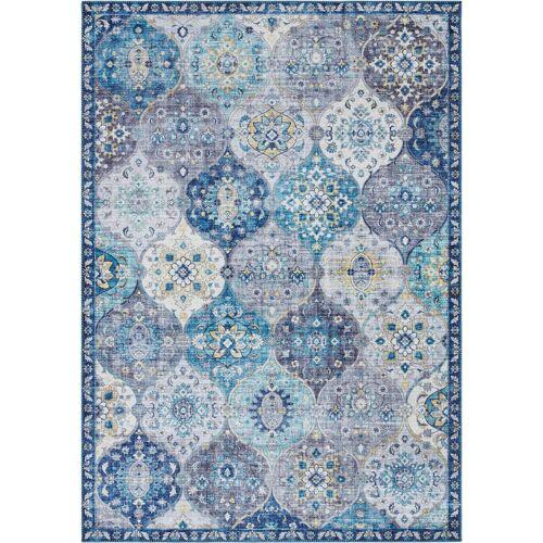 ELLE Decor Teppich »Kashmir Ghom«, , rechteckig, Höhe 5 mm, Orient Design, denim