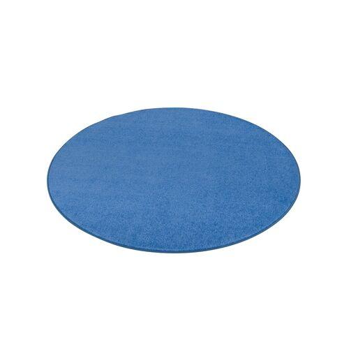 Snapstyle Veloursteppich »Trend Velours Teppich Joy Rund«, , Rund, Höhe 5 mm, Blau