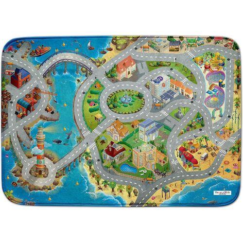 ACHOKA® Kinderteppich »Ultrasoft Spielteppich Bauernhof«, , blau