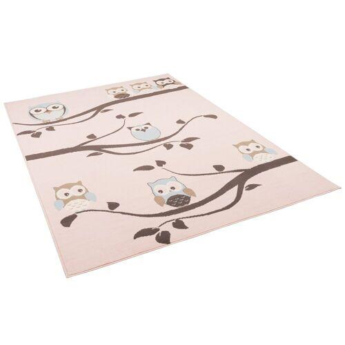 Pergamon Kinderteppich »Kinderteppich Trendline Eulen Pastell«, , Höhe 8 mm