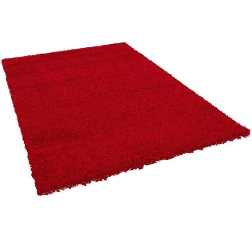 Pergamon Hochflor-Teppich »Hochflor Langflor Teppich Aloha«, , Höhe 40 mm, Rot