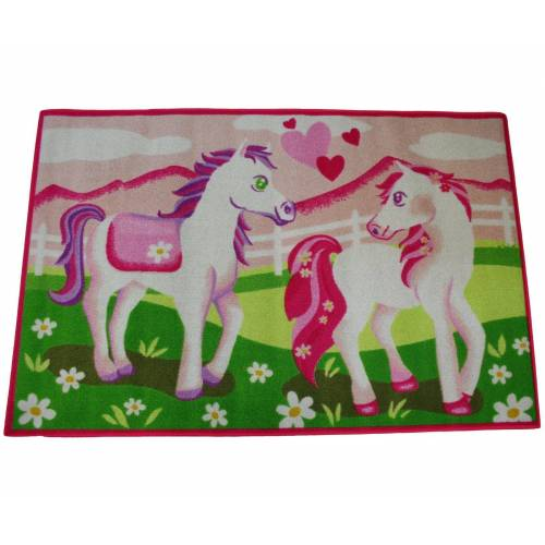 AWE ASSOCIATED WEAVERS Kinderteppich »Spielteppich Pferd Pony«, , Rechteckig, Höhe 5 mm, 120 x 80 cm