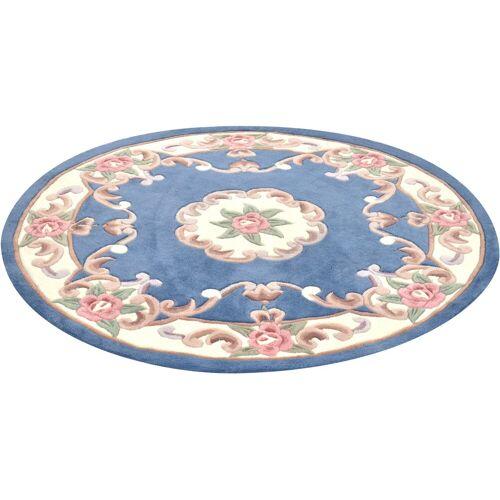 THEKO Teppich »Ming«, , rund, Höhe 14 mm, hochwertiges Acrylgarn, blau