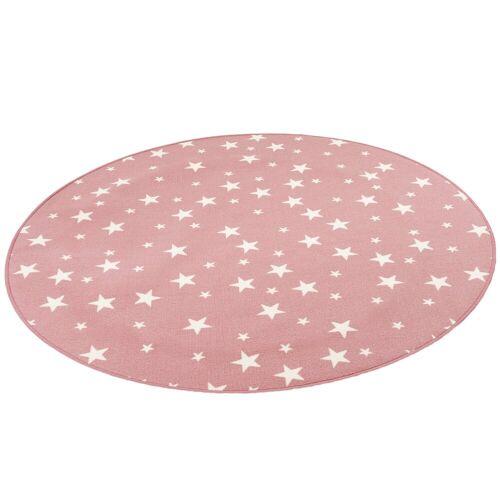 Snapstyle Kinderteppich »Kinder Spiel Teppich Sterne Rund«, , Rund, Höhe 5 mm, Rosa