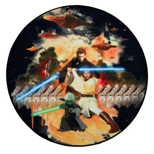 Star Wars Teppich »Teppiche SW-29 Rund 100 x 100 cm Kinderteppich«, , Rund, Höhe 5 mm