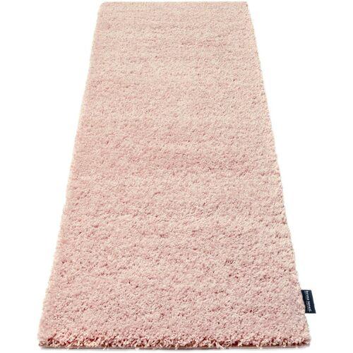 Bruno Banani Hochflor-Läufer »Shaggy Soft«, , rechteckig, Höhe 30 mm, gewebt, kristallweiß-pink