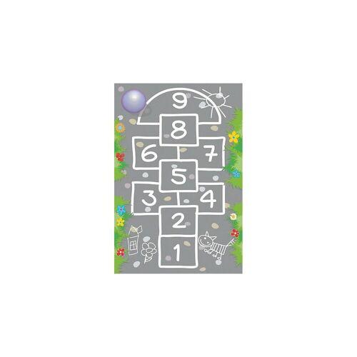ACHOKA® Kinderteppich »Ultrasoft Spielteppich Bauernhof«, , grau/grün
