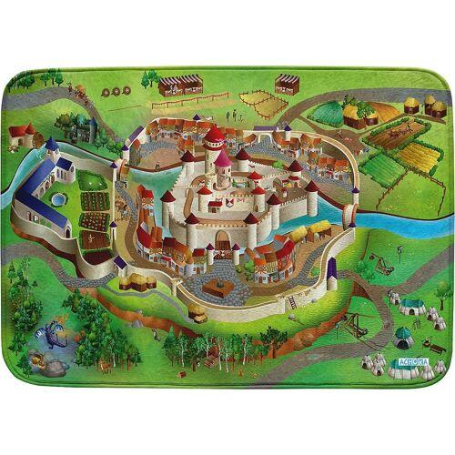 ACHOKA® Kinderteppich »Ultrasoft Spielteppich Bauernhof«, , braun/grün