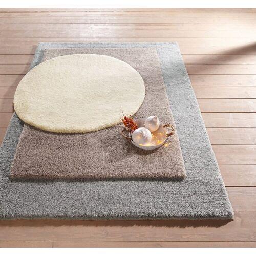 heine home Teppich weiche Microfaser, offwhite